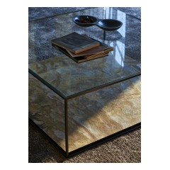 Karusa coffee table, pedestal and console