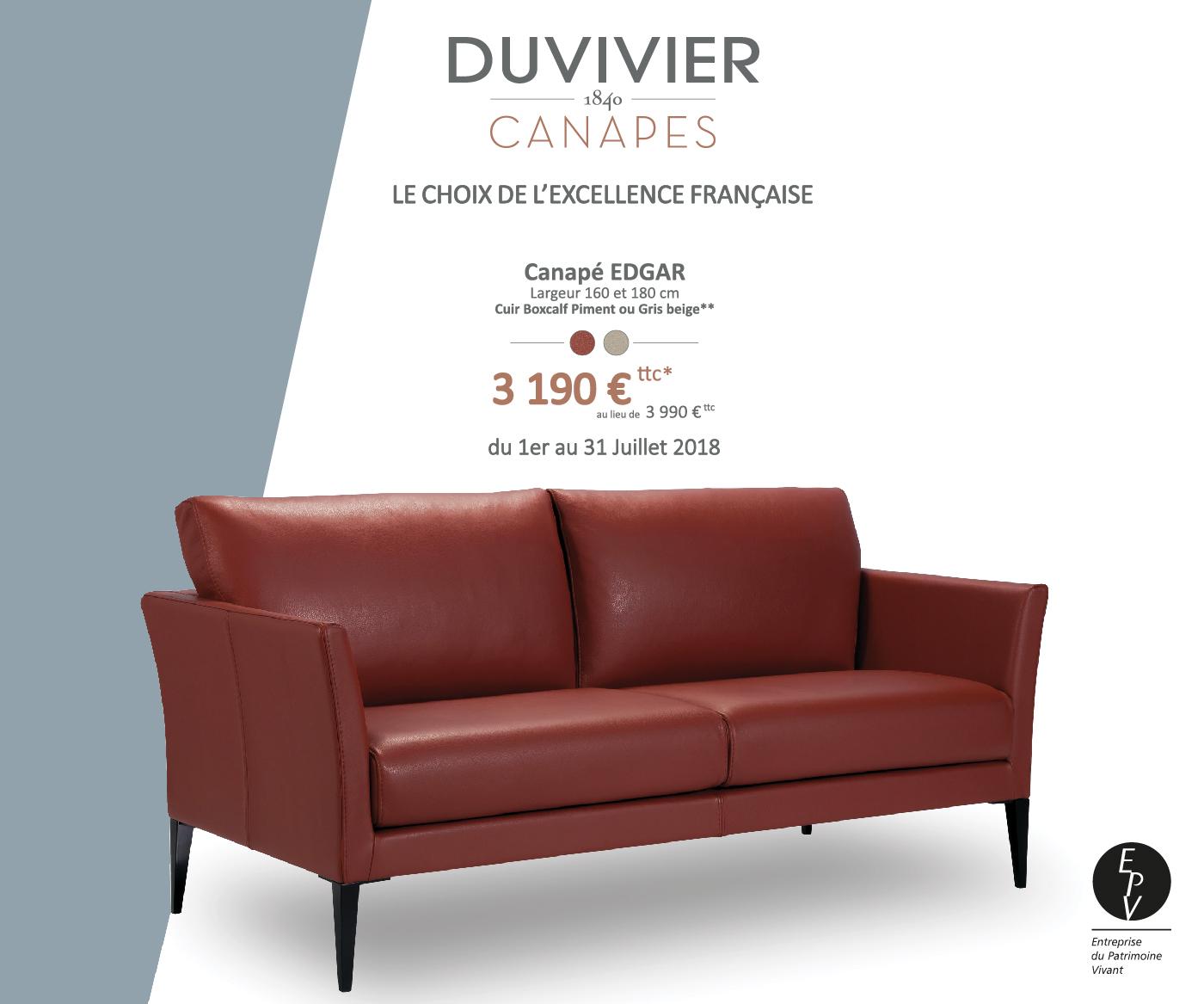 offre sp ciale edgar duvivier canap s. Black Bedroom Furniture Sets. Home Design Ideas